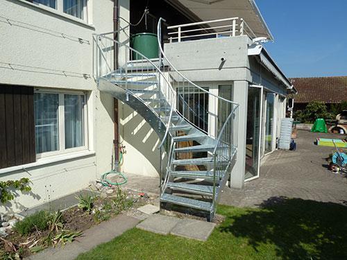 2fach-gewendelte Treppe
