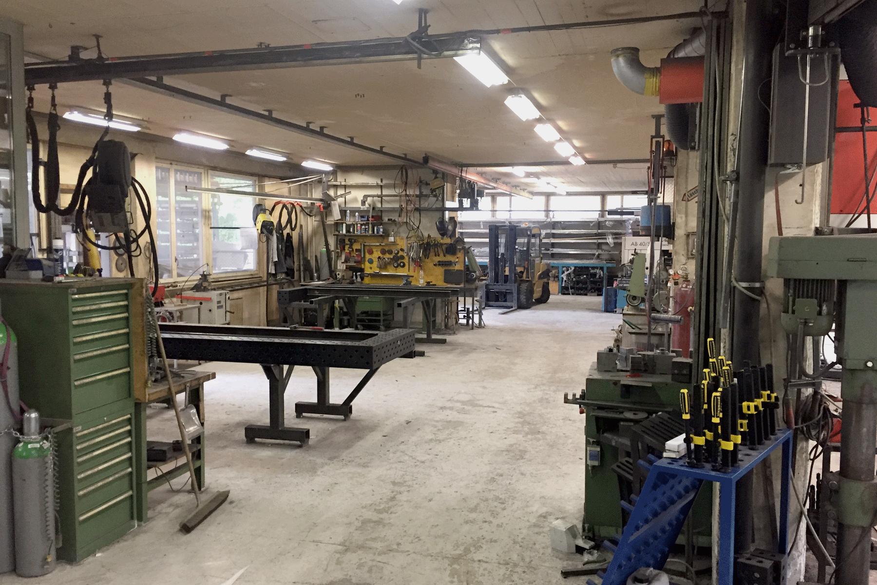 Werkstattimpression Edel + Stahl Metallbau AG